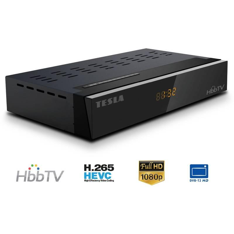 Set-top box Tesla TE-350 HbbTV černý, Set-top, box, Tesla, TE-350, HbbTV, černý