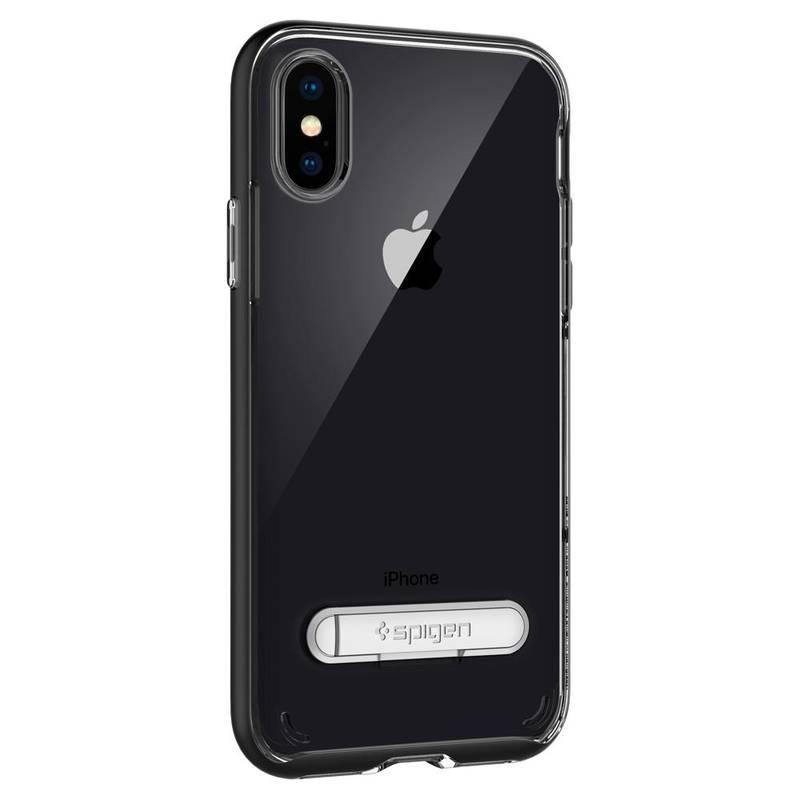 Kryt na mobil Spigen Crystal Hybrid Apple iPhone X černý