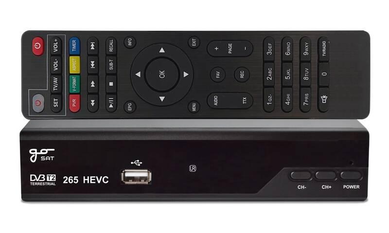 Set-top box GoSat GS220T2 černý