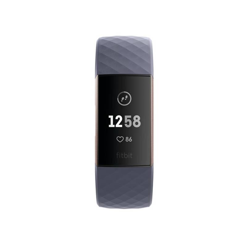 Fitness náramek Fitbit Charge 3 - Rose Gold, Blue Grey