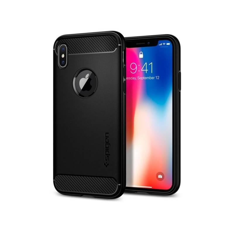 Kryt na mobil Spigen Rugged Armor Apple iPhone X černý