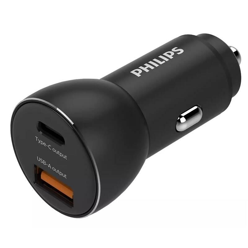 Adaptér do auta Philips 1x USB-C,